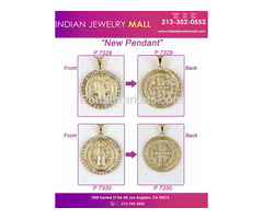 Gold Color Standing Jesus Christ Piece Charm   Pendant | Indian Jewelry Mall