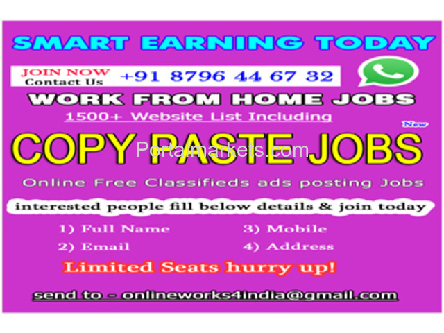 Work from Home jobs in India | Copy Paste Jobs | Copy Paste Works - 1/1