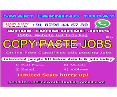 Work from Home jobs in India | Copy Paste Jobs | Copy Paste Works