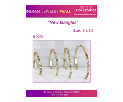 Tri Color Bangles - Oro Laminado Indian Jewelry Mall