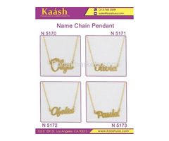 Kaash : Custom Name Necklace, Oro Laminado, Wholesale Jewelry,Gold   Plated Jewelry