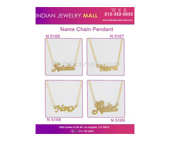 New Name Chain Pendant - Oro Laminado Indian Jewelry Mall