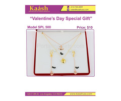 Kaashusa :Necklace Sets for Valentine's Special Oro Laminado, Wholesale Jewelry