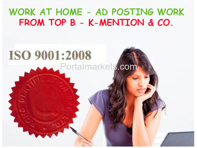 Copy-Paste Work At Home-Ad Posting Franchisee Oppurtunity in Jaipur K-Mention - 1/1