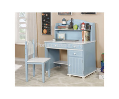 Deana -Blue/White- Kids Desk and Chair