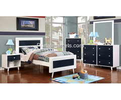Alivia -Blue/White 5PC Twin Bedroom Collection