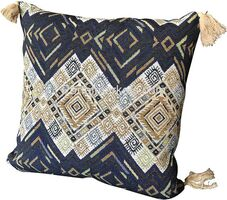 Throw Pillow Cover Tribal Boho Woven Pillowcase With Tassels Soft Square Pillow