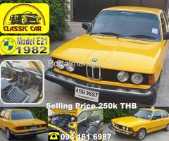 Pattaya Classic Car BMW 320i e21 1982 sale