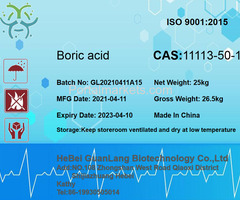 Hot sale Boric acid CAS 11113-50-1 from China manufacturer +86 19930505014
