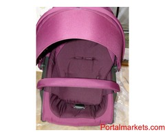 STOKKE XPLORY V4 NEW IN PURPLE COLOR (CARRYCOT & CAR SEAT)