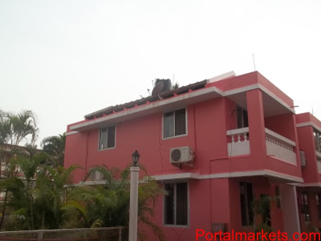 Benaulim beach Goa holiday rooms for families ac 2BHK villa Rs.4000 per night for 6 persons - 1/3