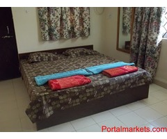 Benaulim beach Goa holiday rooms for families ac 2BHK villa Rs.4000 per night for 6 persons