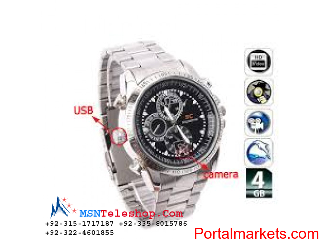Spy HD Camera Watch Price in Lahore call 03224601855 - 1/2